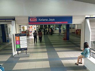 Kelana Jaya LRT station - Image: Kelana Jaya LRT 2