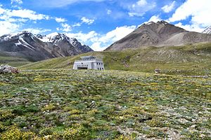 Khunjerab Pass - View of the Khunjerab Pass point at the Pakistan-China border
