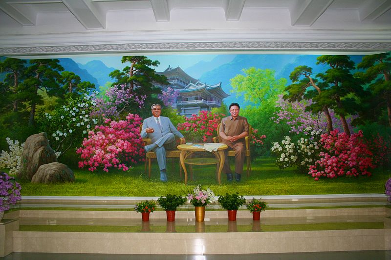 File:Kim Il-sung and Kim Jong-il on a mural in Pyongyang.jpg