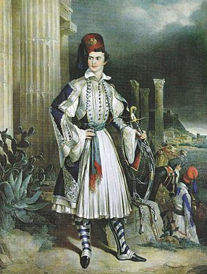Evzones - Otto of Greece in Evzonas uniform