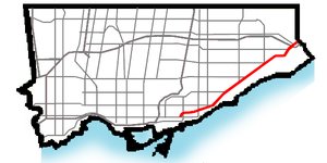 Kingston Road (Toronto) - Image: Kingston Rd map