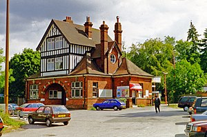 Kingswood railway station - Kingswood station exterior 1995 (geograph 5448190).jpg