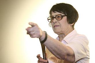 Kira Muratova - Muratova in 2010 conducting her personal master class at the Odessa International Film Festival.