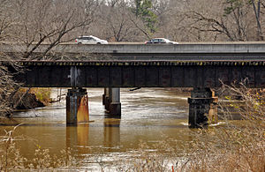 Knightdale, North Carolina - Knightdale Bypass (Hwy 64/264) bridge over the Neuse River.