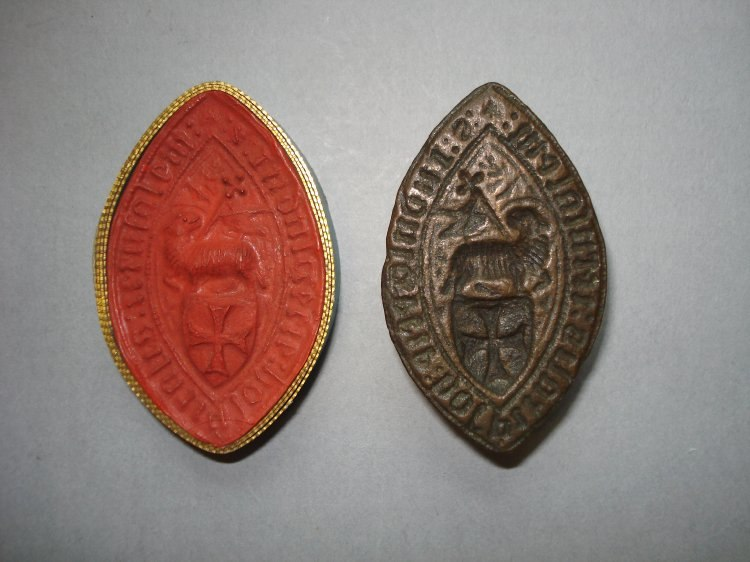 Knights Hospitallers of Jerusalem bronze seal