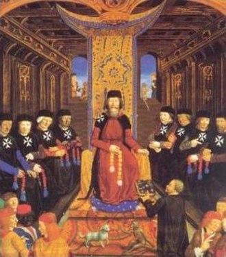 Knights Hospitaller - Grand Master and senior Knights Hospitaller in the 14th century