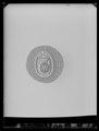 Kokard, knapplåsmärke för Konung Karl XVs jaktklubb, 1863-ca 1880 - Livrustkammaren - 11158.tif
