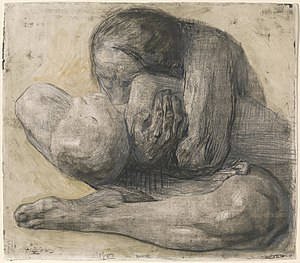 Käthe Kollwitz - Woman with Dead Child, 1903 etching