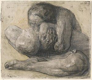 Käthe Kollwitz - Woman with Dead Child, 1903 etching