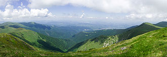 Balkan Mountains - A view from Kom Peak in western Bulgaria.