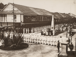North Borneo War Monument - Inauguration of the monument on 8 May 1923