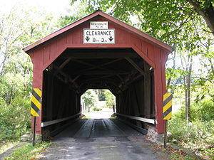 Kreigbaum Covered Bridge - Kreigbaum Covered Bridge in September 2012
