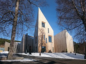 """Romsdal Museum - """"Krona"""" the main building at Romsdalsmuseet"""