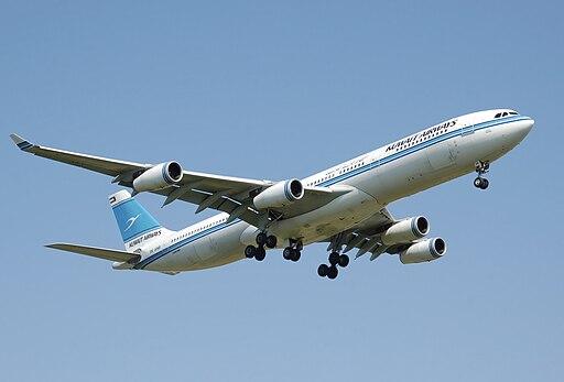 Kuwait airways a340-300 9k-anb landing arp