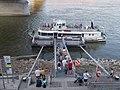 Lánchíd (ship, 1986), Szent Gellért tér pier, 2017 Budapest.jpg
