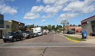 L'Anse, Michigan - Downtown L'Anse at River and Main Street