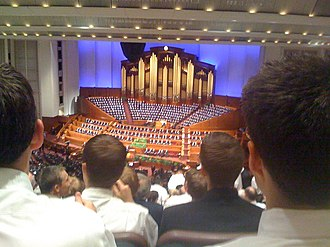 Solemn assembly - LDS General Conference at the Conference Center in 2008