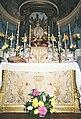 La Cappelletta, 1983, dopo i restauri, l'altare maggiore in dettaglio.jpg