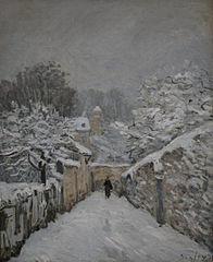 La neige à Louveciennes