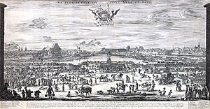 Stefano della Bella - Image: La perspective du Pont neuf de Paris, engraving by Stefano della Bella Gallica 2011 (adjusted)