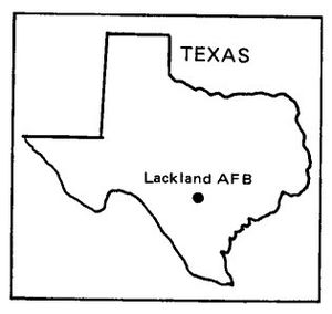 Map of Lackland AFB, Texas