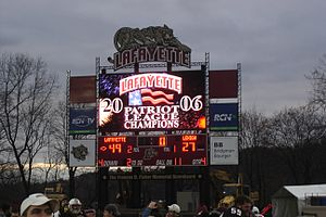 "Fisher Stadium - Lafayette won the 142nd edition of ""The Rivalry"" against Lehigh University in 2006, the third of four straight victories in the most-played rivalry in college football history."