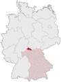 Lage des Landkreises Rhön-Grabfeld in Deutschland.png