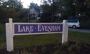 Lake Evesham - Lake Evesham neighborhood welcome sign