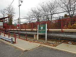 Lakeview LIRR Station; Welcome to Lakeview Sign.JPG