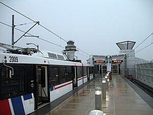 Lambert Airport Terminal 1 station - Image: Lambert train