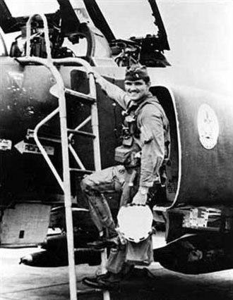 Lance Sijan - Sijan boarding a F-4 Phantom II