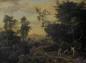 Abraham Genoels - Landscape with Diana hunting