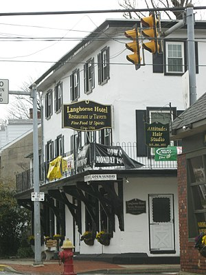 Langhorne, Pennsylvania - The Langhorne Hotel