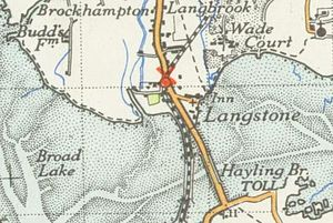 Langstone - A map of Langstone and surrounding areas from 1945
