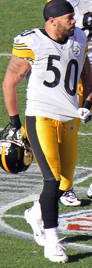 Larry Foote - Foote while with the Steelers