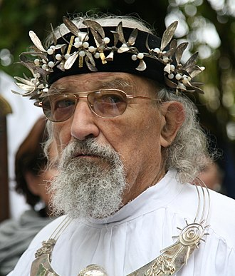 Religion in France - Gwenc'hlan Le Scouëzec, Grand Druid of Brittany and France from 1980 to 2008.