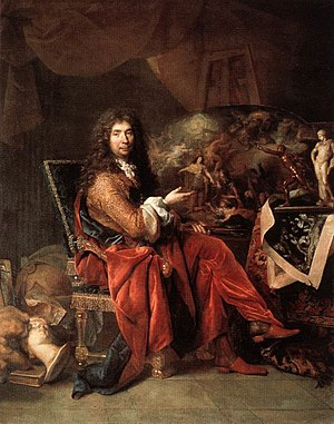 1690 in France - Charles Le Brun, portrait by Nicolas de Largilliere