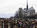Le pont de l'Archevêché et la cathédrale Notre-Dame (Paris).jpg
