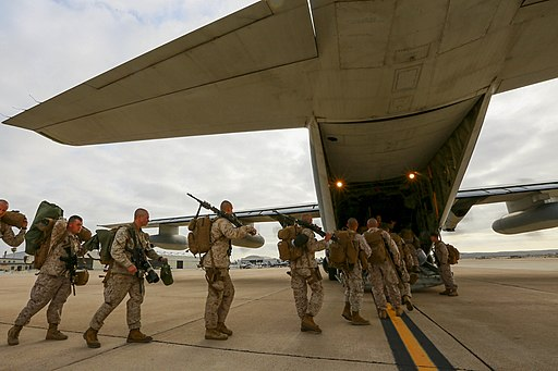 Leaving on a jet plane, 3-1 Marines depart for Hawaii 150513-M-GC438-023