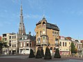 Leeuwarden, straatzicht Voorstraat met Sint Bonifatiuskerk (RM24436) foto1 2013-08-25 18.15.jpg