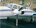 Left nacelle and propeller of a Piper PA-31 Navajo of Mohican Air Service - NARA - 17473672.jpg