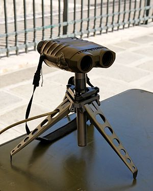 CheyTac Intervention - Vector laser range finder binoculars.