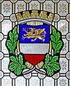 Leipzig Reichsgericht Sitzungssaal Wappen Rostock.jpg