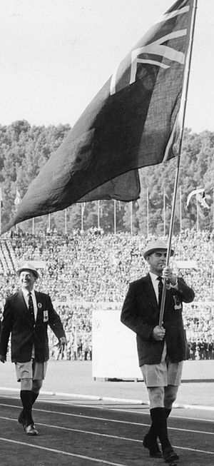 Les Mills - Mills (right) at the 1960 Olympics