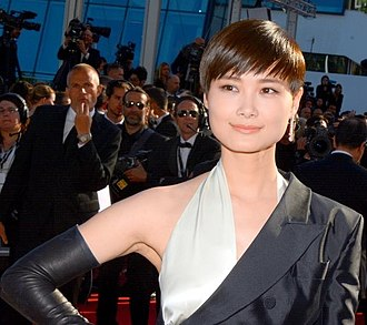 Li Yuchun - Li arriving on the red carpet of Cannes Film Festival, May 2015