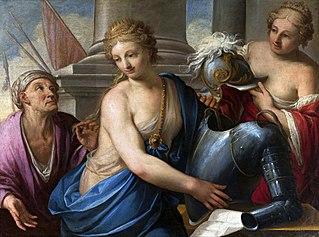 Berenice deciding to dedicate her hair to Aphrodite.