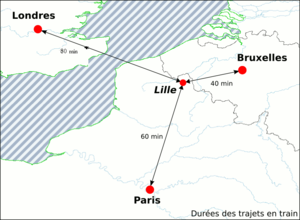 Gare de Lille Europe - Trains between the three capitals of London, Brussels and Paris pass through Lille