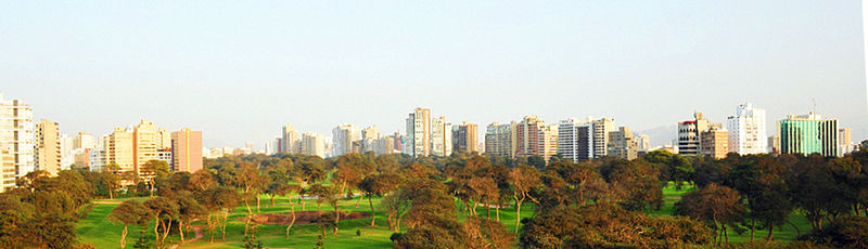 Panorámica del Lima Golf Club.