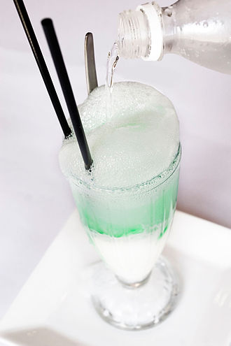 Ice cream float - A lime spider