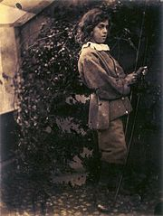Lionel Tennyson with bow & arrow, by Julia Margaret Cameron.jpg